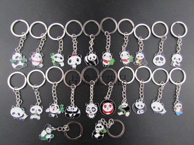 2016 new Panda metal key ring pendant/Panda key chain ALL STYLE IS 36 STYLE цена
