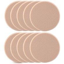 10 шт. макияж основа губчатый смеситель слоеного порошка мягкий спонж ватные дски AL50