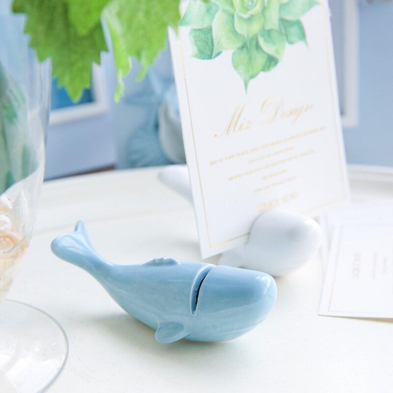Miz Visitenkartenhalter Keramik Wal Form Kartenhalter Hause