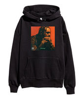 Post Malone Stoney Album Cover Hoodie Hip Hop Rap Hooded Sweatshirt merch Black