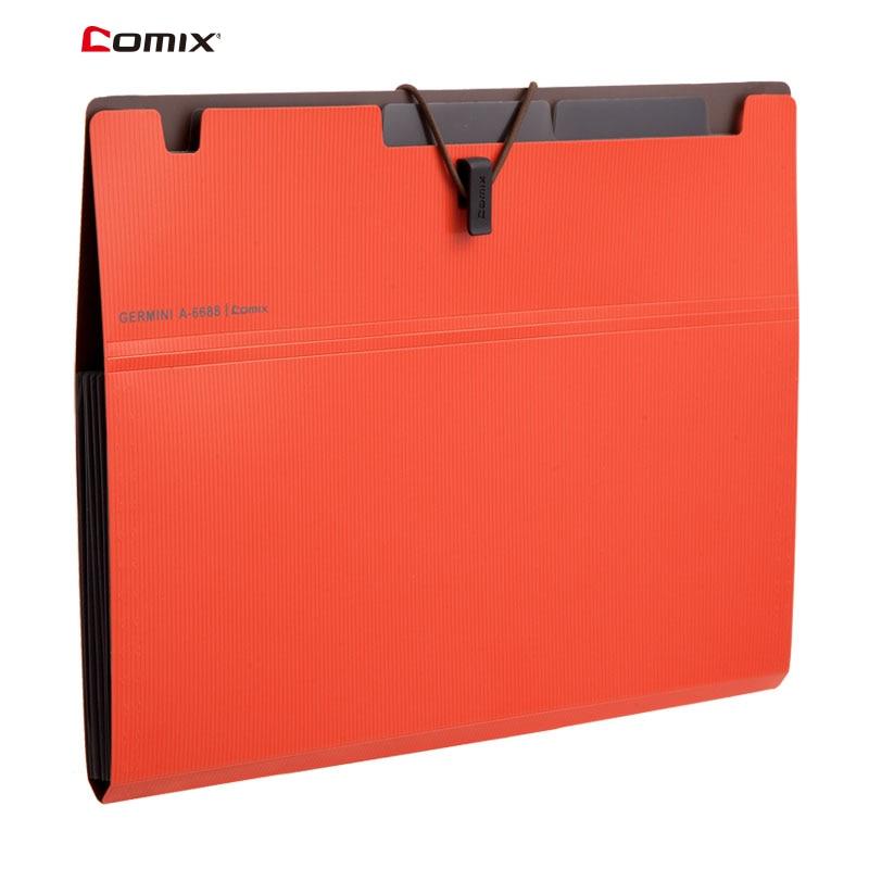 Comix 6 Layer Expanding File Folder Organ Bag A4 Organizer Paper Holder Document Folder School Supplies