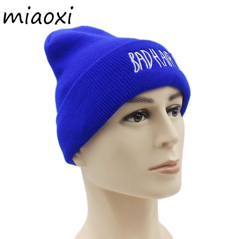 miaoxi New Fashion Knit Women Winter Hat Warm Female Letter Caps Beauty Knitted Beanie Skullies Solid Hat For Girl's Gift Sale summer women shoes casual cutouts lace canvas shoes hollow floral breathable platform flat shoe sapato feminino 30