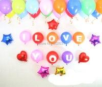 Matt-inch latex balloons in THƯ AZ (I LOVE YOU valentine bộ) valentine lễ kỷ niệm đám cưới Foil Balloons