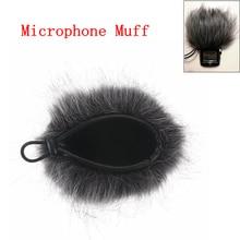 Neue Künstliche Pelz Mikrofon Muff Windschutz Wind Hülse Schild Abdeckung Für Zoom H1 H2N H4N Q3 Für Sony D50 Recorder 120x130mm