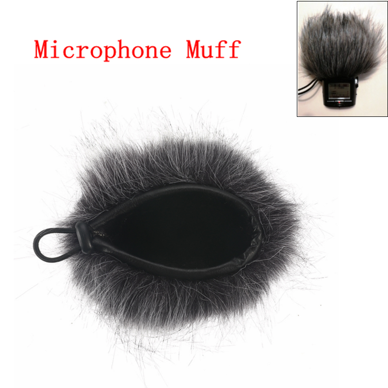 New Artificial Fur Microphone Muff Windscreen Wind Sleeve Shield Cover For Zoom H1 H2N H4N Q3 For Sony D50 Recorder 120x130mm