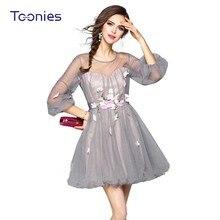 Robe lolita sexy florale à taille haute ...