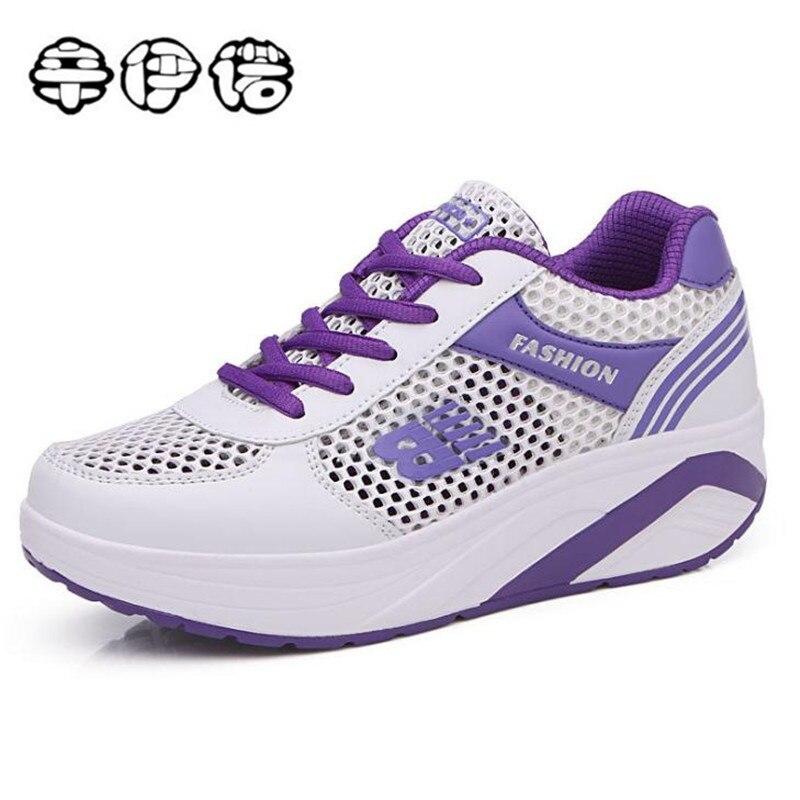 2018 spring platform designer breathable women casual shoes purple brand woman sneakers walking shoe flat ladies fashion shoes