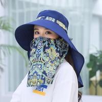 914d325c2e18c7 2019 Summer Sun Hats For Women Bucket Hats Beach Hat Mask Casual Wide Brim  Foldable Outdoor
