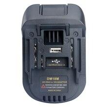 FULL 20V a 18v bateria conversão dm18m li ion carregador ferramenta adaptador para milwaukee makita bl1830 bl1850 baterias