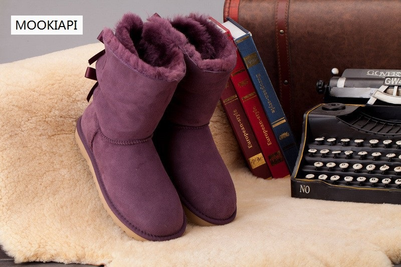 2019 Top Quality Real sheepskin Leather Women Snow Boots 100% Natural Fur Warm Wool Boots women boots winter snow boots