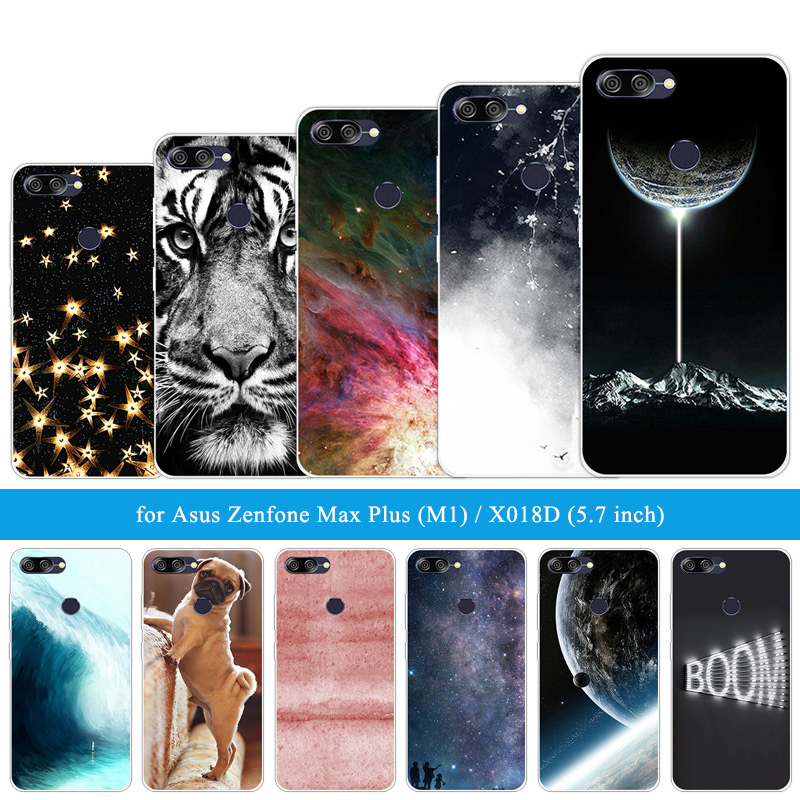 For Asus ZenFone Max Plus M1 ZB570TL Lion Tiger Cases Siliocne 5.7 inch For Zenfone Max Plus M1 X018DC ZB570TL Soft TPU Shells