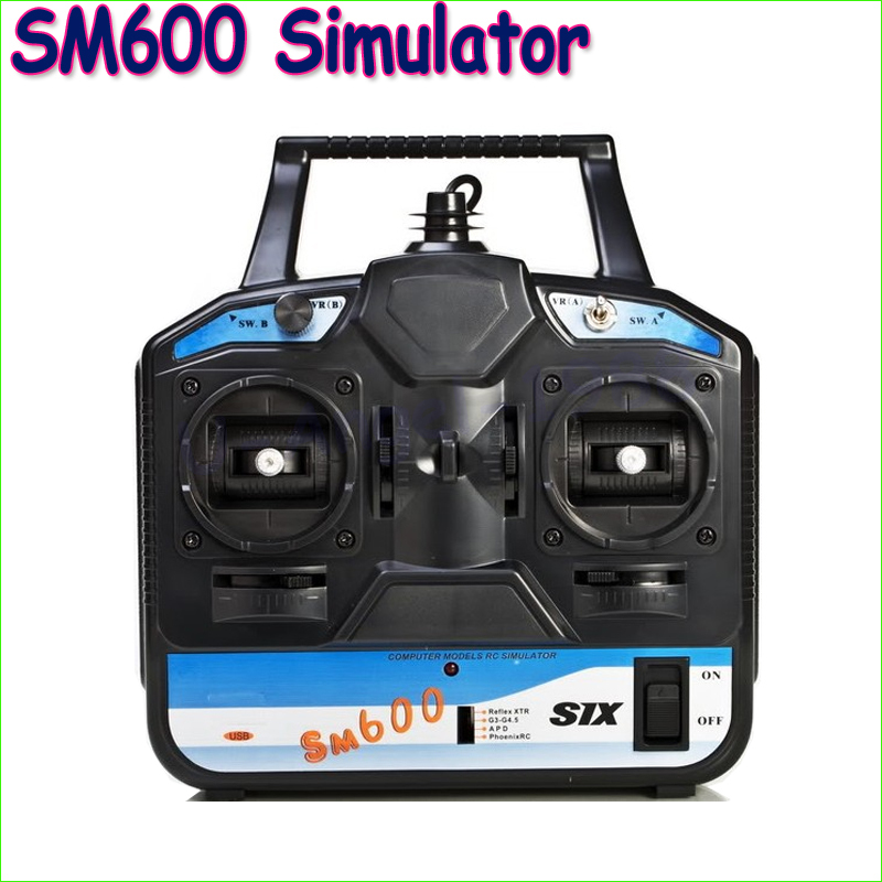 1pcs FS-SM600 6CH USB Simulator for helicopter/glid/airplane(AeroFly ,RealFlight G3.5 ,Reflex XTR,RealFlight G4) Dropship