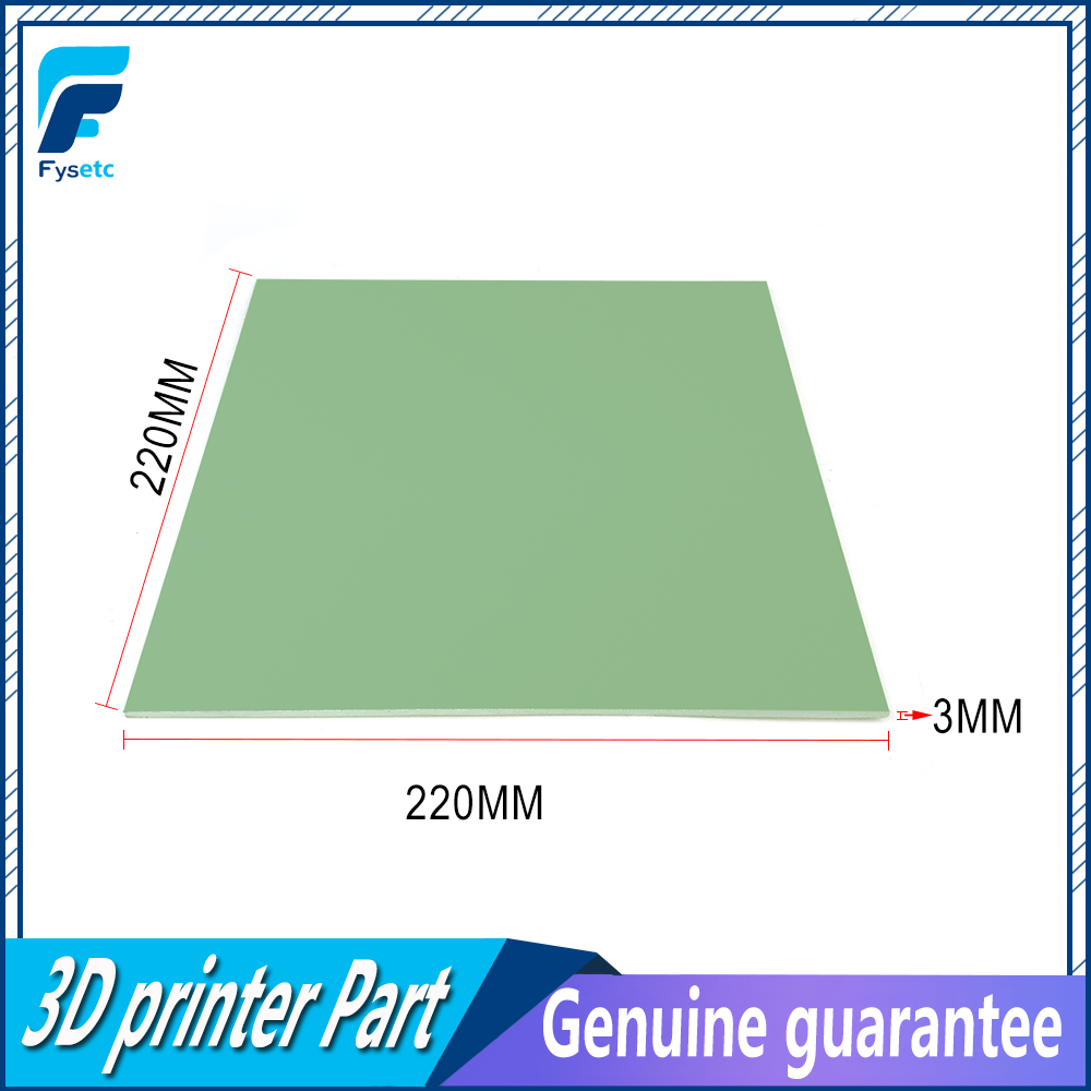 220x220x3mm 3D Printer Hotbed Build Plate 3D Printer Polypropylene Build Plate FOR Anet A8 A6 Prusa I3 VS Glass Plate