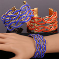 U7 African Coral Beads Bracelets For Women Bohemian Jewelry Fashion Yellow Gold Plated Cuff Bracelets & Bangles Wholesale H218