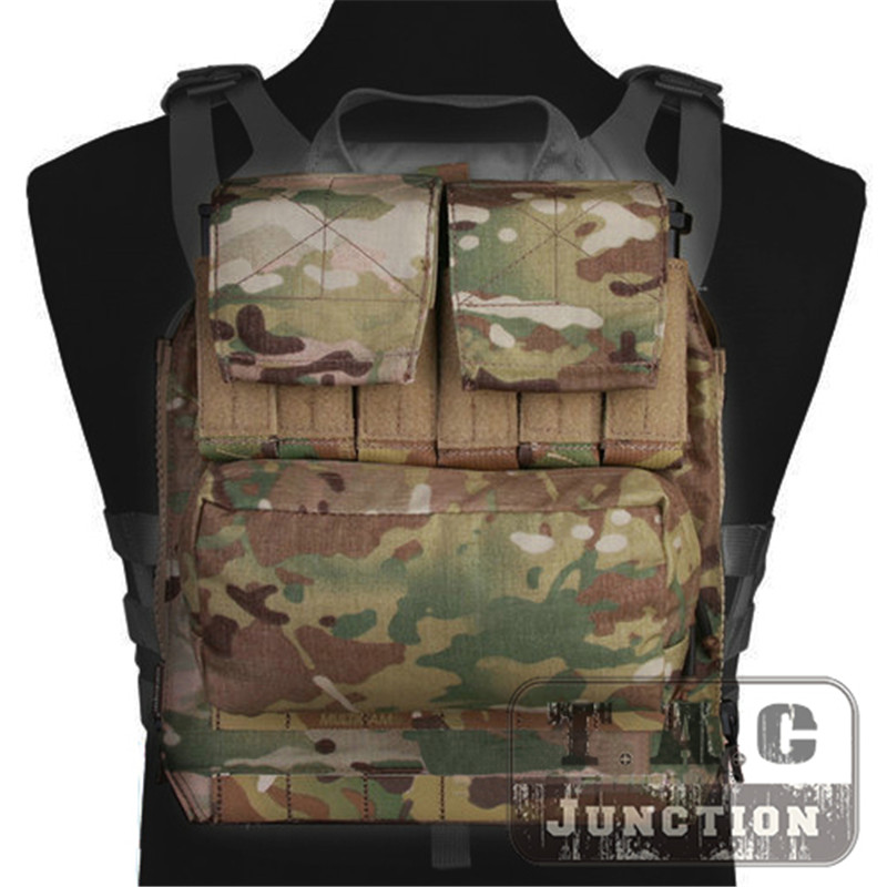 Emerson Tactical Backpack Zip-on Panel EmersonGear Plate Carrier Zip On Back Bag Magazine Pouches For CPC NCPC JPC 2.0 AVS Vest