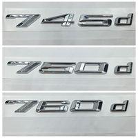 מדבקות אוטומטי עבור BMW סדרת 7 745d 750d 760d אותיות האלפבית מכסה תא מטען אחורי תג סמל מדבקת לוגו