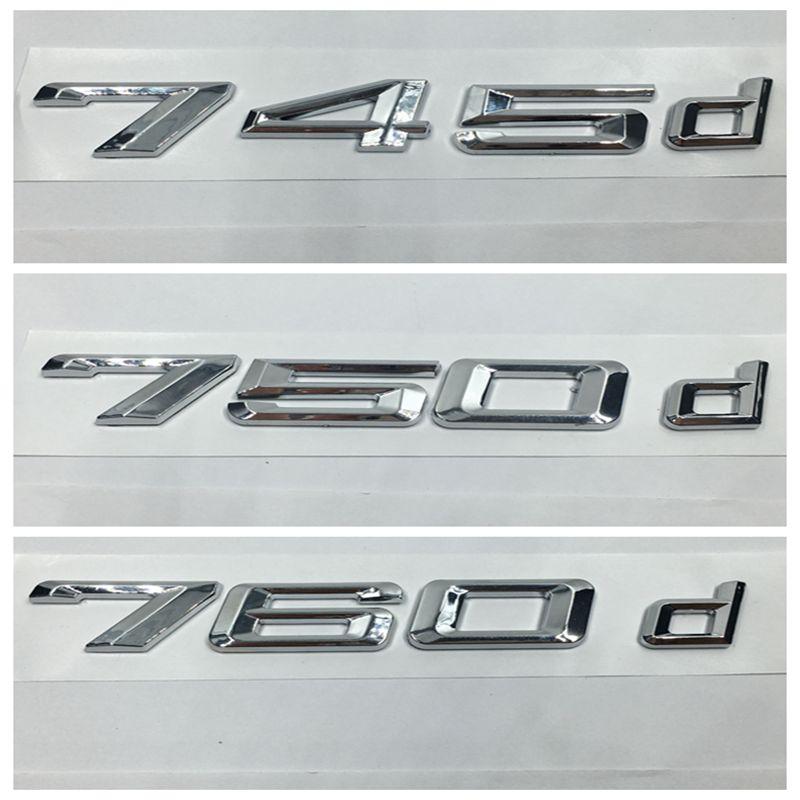 Us 792 39 Offauto Aufkleber Für Bmw 7 Serie 745d 750d 760d Kofferraum Alphabet Buchstaben Abzeichen Emblem Logo Aufkleber In Autoaufkleber Aus