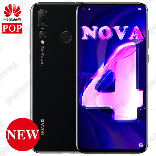 a8b4be03e NEW HUAWEI NOVA 4 Smartphone 6.4 inch Full Screen Kirin 970 Octa Core Phone  8G RAM ...
