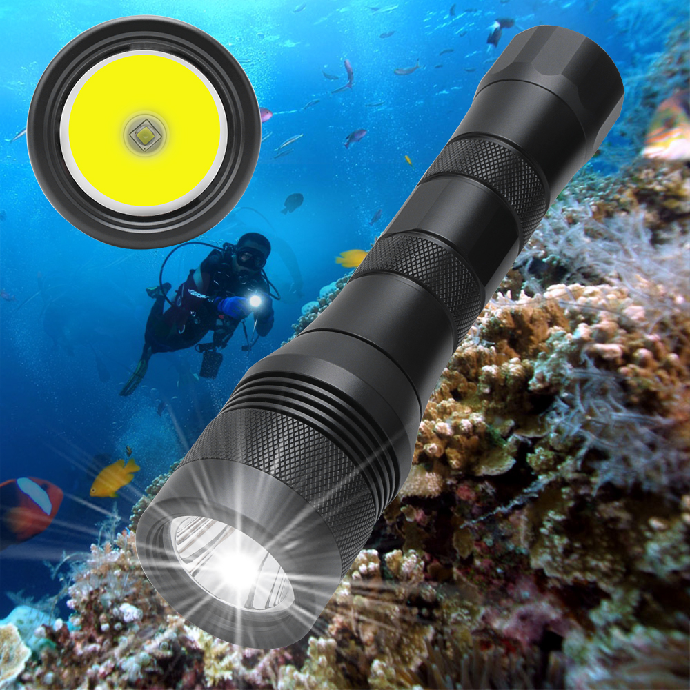 Super Bright LED Underwater 150M Diving Flashlight Torch Scuba Diving Lantern Equipment Submarine Light for spearfishing