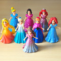 Elsa Anna Doll, 8pcs/lot 9cm PVC Cartoon Princess Action Figure Toy, Changeable Dresses, Anime Brinquedos, DIY Toys For Girls