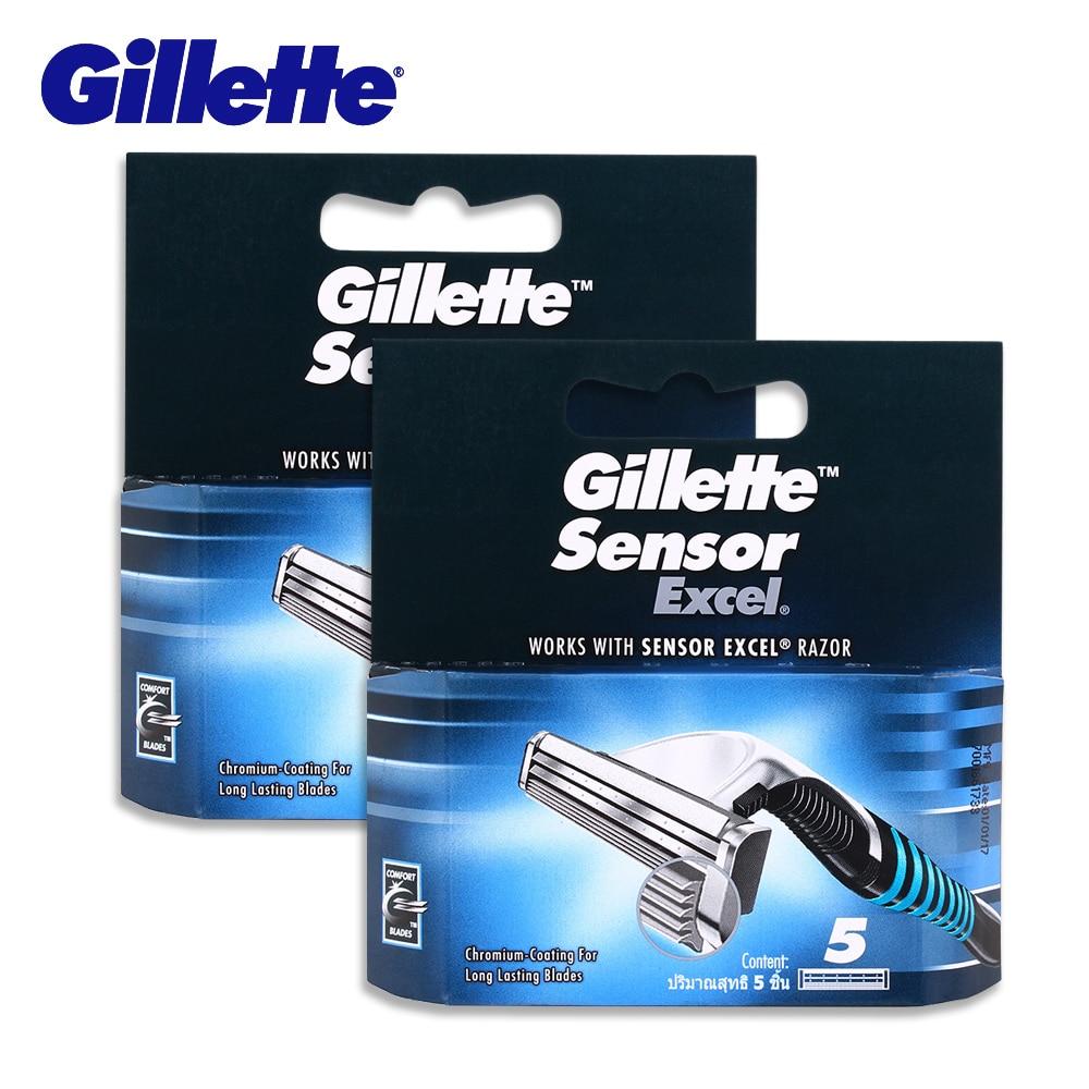 Gillette Sensor Excel Rasierklinge Rasieren Rasierklingen Rasierer Köpfe Für Männer Doppel Rand Sicherheit Rasiermesser 10 Klingen