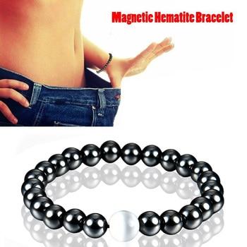 3f8a955996 2Pcs/Set Couples Distance Bracelet Classic Natural Stone White and ...