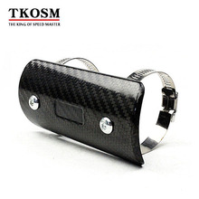 TKOSM Motorcycle Exhaust Muffler Cover Carbon Fiber Color Protector Heat Shield Guard TMAX530 CB400 CBR300 Z250 Z750