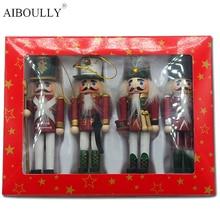 Новинка, Рождественский Щелкунчик, декоративные аксессуары, маленький оловянный солдатик, игрушка-гуманоид, кукольные игрушки, Детский Рождественский подарок