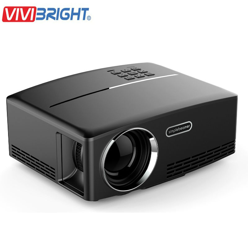 Cheap video projector gp80 mini projector led lcd 1800 for Small hdmi projector