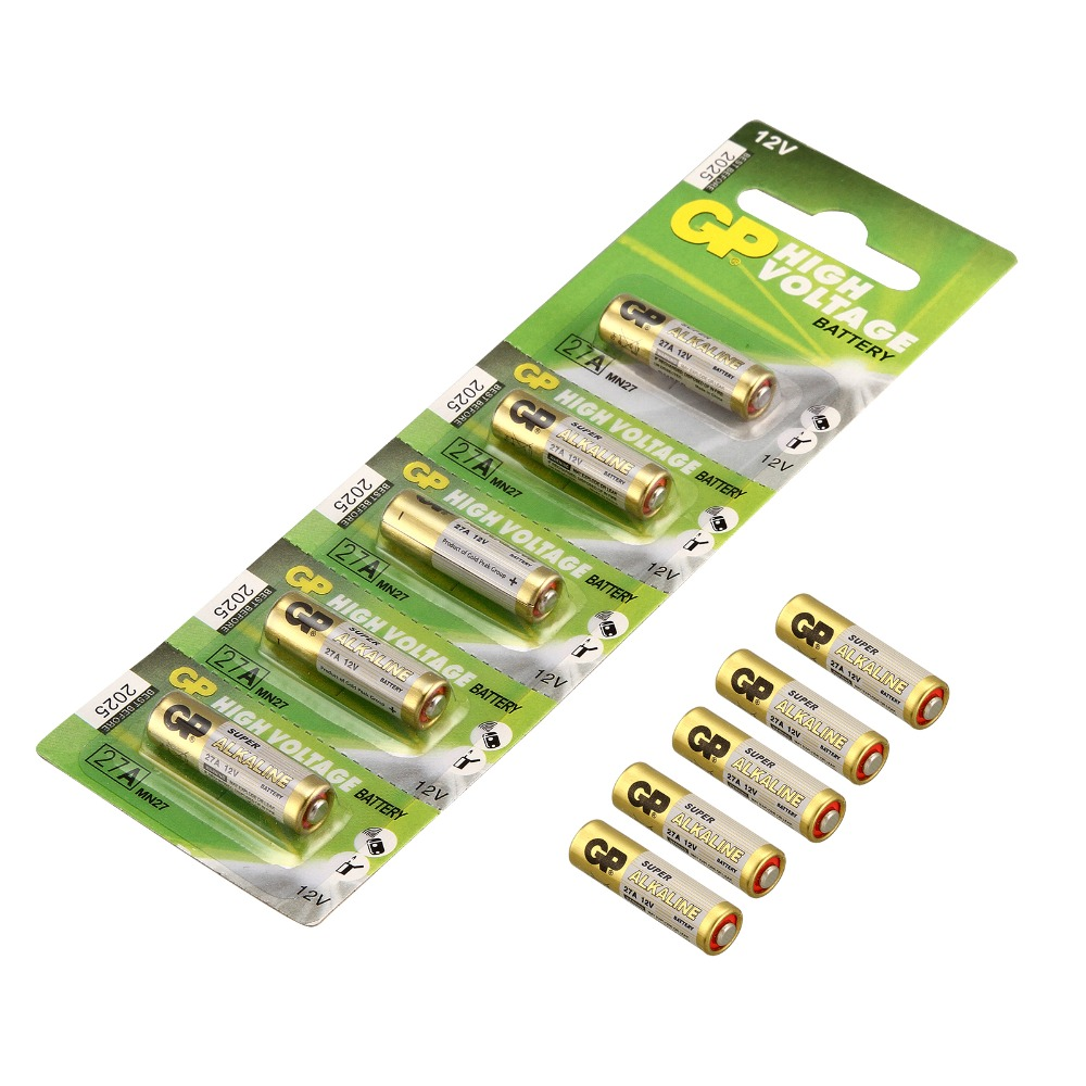 10pcs/Lot GP High Voltage Battery 27a 12v A27 Battery Dry Alkaline Battery Cells 27AE 27MN Car Remote Toys Calculator DoorBell