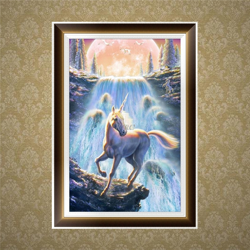 2017 New Unicorn 5D Diamond Embroidery Painting Cross Stitch DIY Craft Home Office Decor Horse may13_30