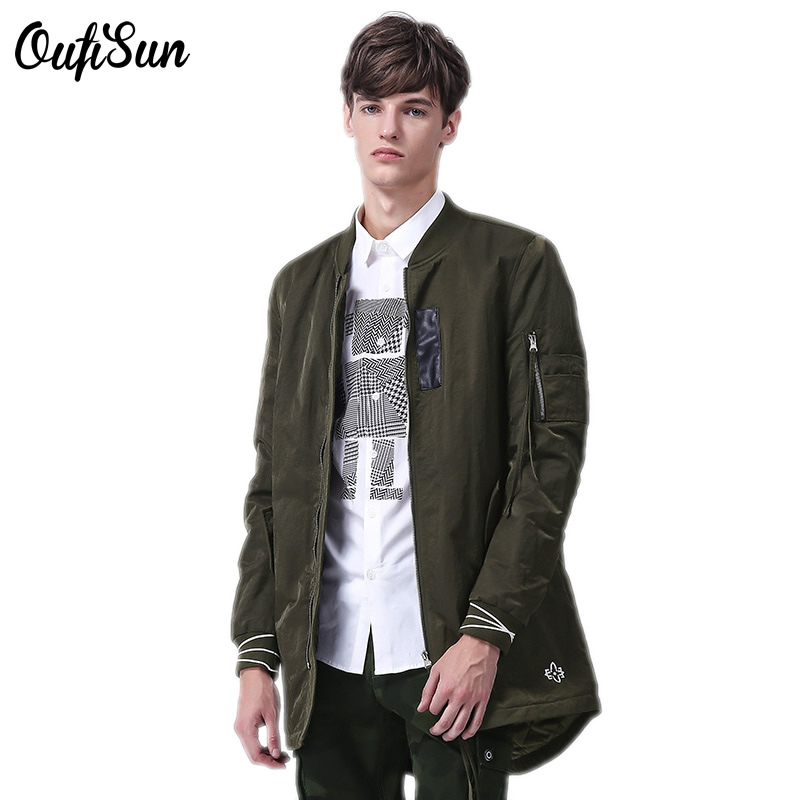 New casual Male long jacket mens soft comfortable men's jacket Yanwei army green black blue size M-3XL brand clothing Sun 8855
