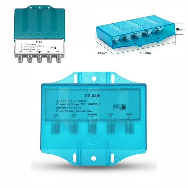 עמיד למים 4x1 DiSEqC 1.0 2.0 מתג 950 2400MHz לווין Lnb FTA צלחת LNBS או לווין מקלט