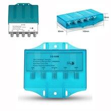 Su geçirmez 4x1 DiSEqC 1.0 2.0 anahtarı 950 2400MHz uydu Lnb anahtarı FTA bulaşık LNBS veya uydu alıcı