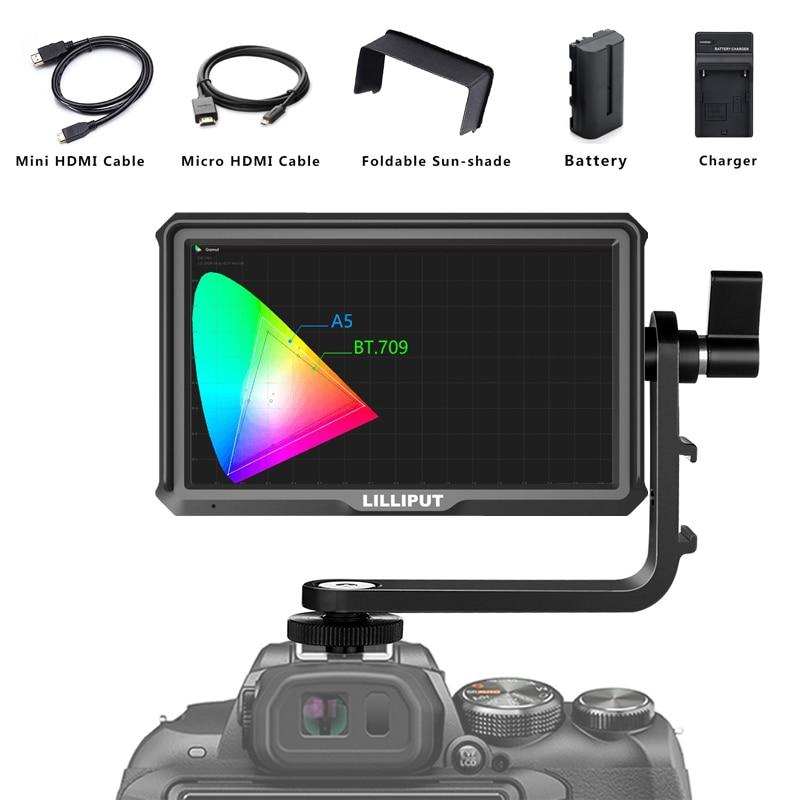 Lilliput A5 5 IPS 4K HDMI Camera Monitor for DSLR or Mirrorless Camera Camera top Field