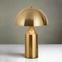 Италия Современный гриб настольная лампа белый черный Золотой настольная лампа для спальни Гостиная Исследование Lampara De Mesa Para