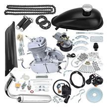 TDPRO Set 80cc Push Bike 2 Stroke Gas Engine Motor Kit DIY Motorized Bicycle Electric Start With Spark Plug Chain Guard Switch недорого