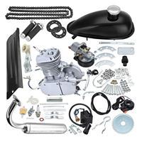 TDPRO Set 80cc Push Bike 2 Stroke Gas Engine Motor Kit DIY Motorized Bicycle Electric Start With Spark Plug Chain Guard Switch