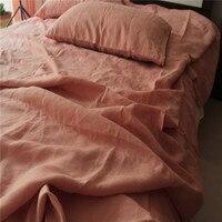 Pure linen flat sheet French Jade linen 230x250cm