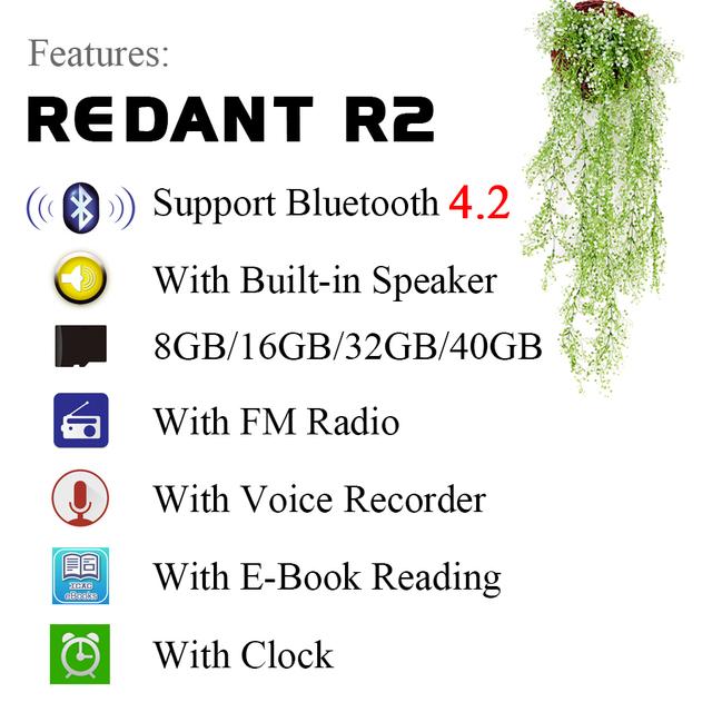 MP3 Player with bluetooth and Speaker 1.8 Screen touch keys hi fi  fm radio mini sport MP 3 music player portable metal walkman
