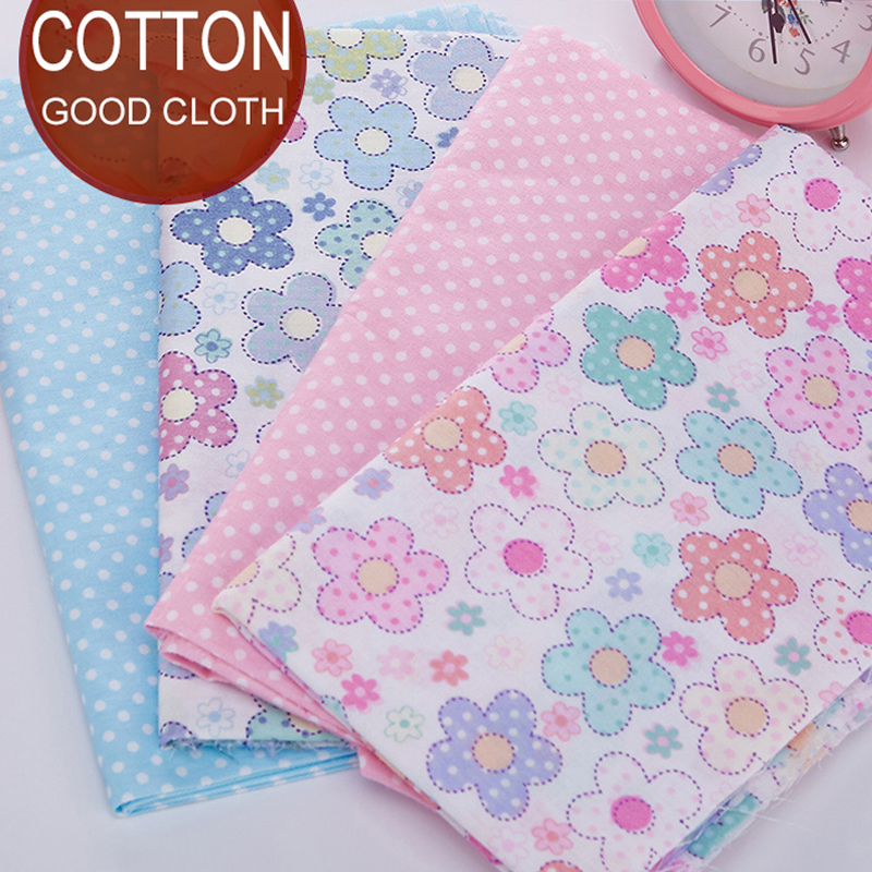 4pcs lots 20x25cm cotton fabric small flowers clothing for Children s cotton dress fabric