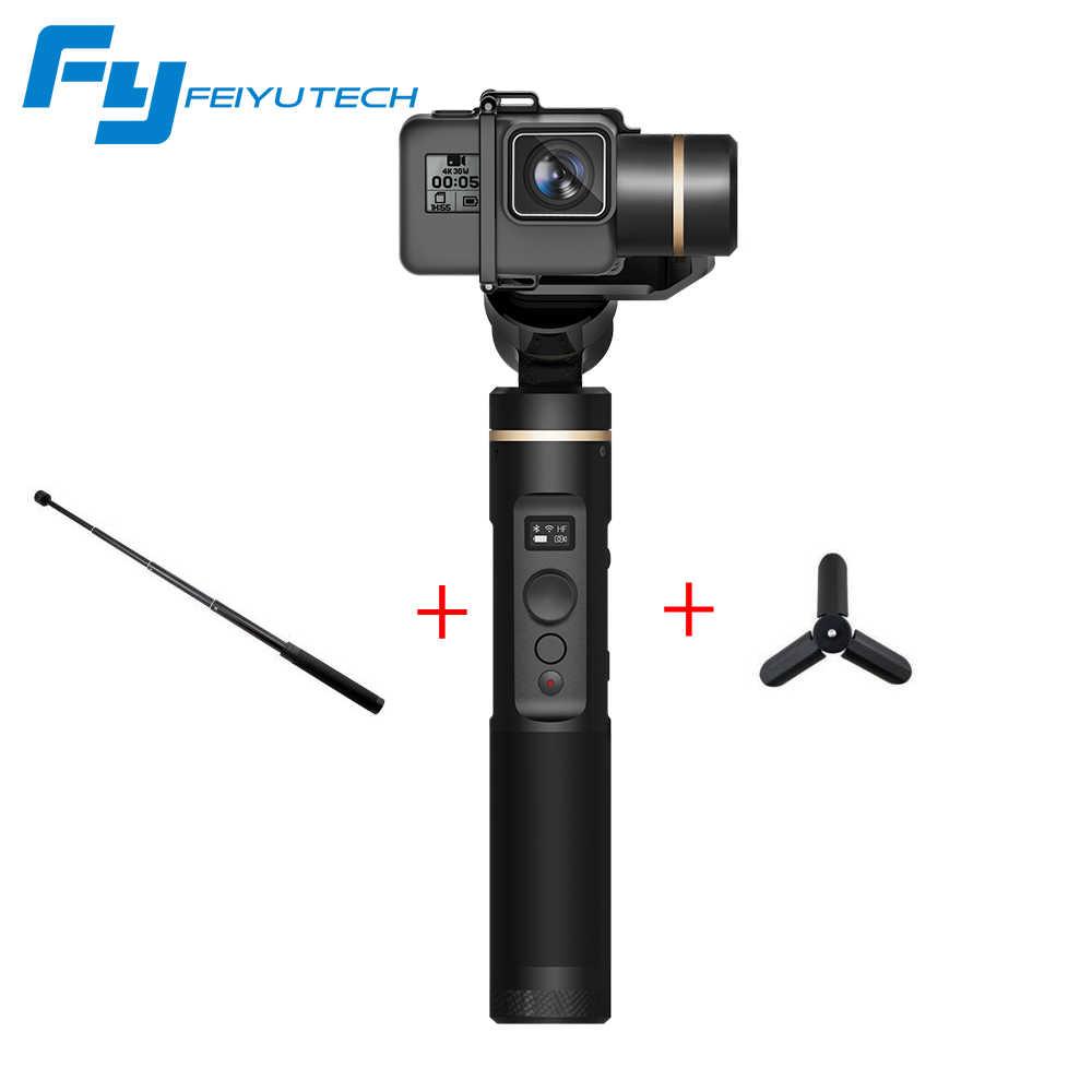 FeiyuTech Feiyu G6 3-осевой переносной карданный стабилизатор для экшн Камера Gopro 6 5 4 RX0 спортивной экшн-камеры Xiaomi Yi 4 k, Wi-Fi, стабилизатор Vs гладкой 4