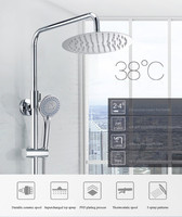 Bathroom shower set smart thermostatic faucet constant temperature rain shower head shower faucet shower system doccia