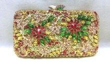 Freies verschiffen!! A15-55, bunte farbe mode top kristallsteinen ring handtaschen für damen nette parteibeutel