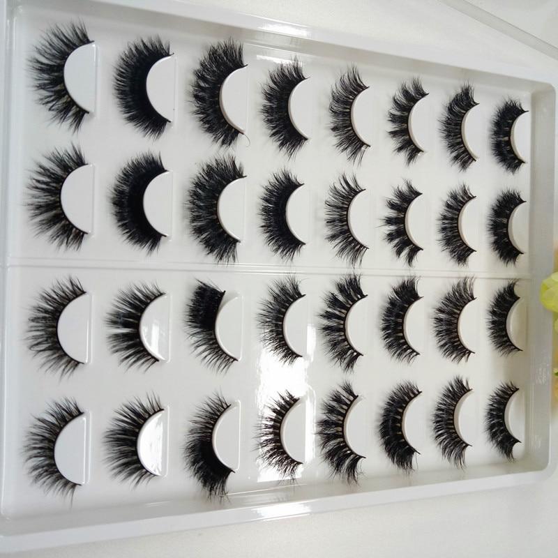 New style 3D mink eyelashes Handmade False Eyelashes Beauty Mink Eyelashes 16pairs/set with different styles stylish 5 pairs natural soft handmade false eyelashes
