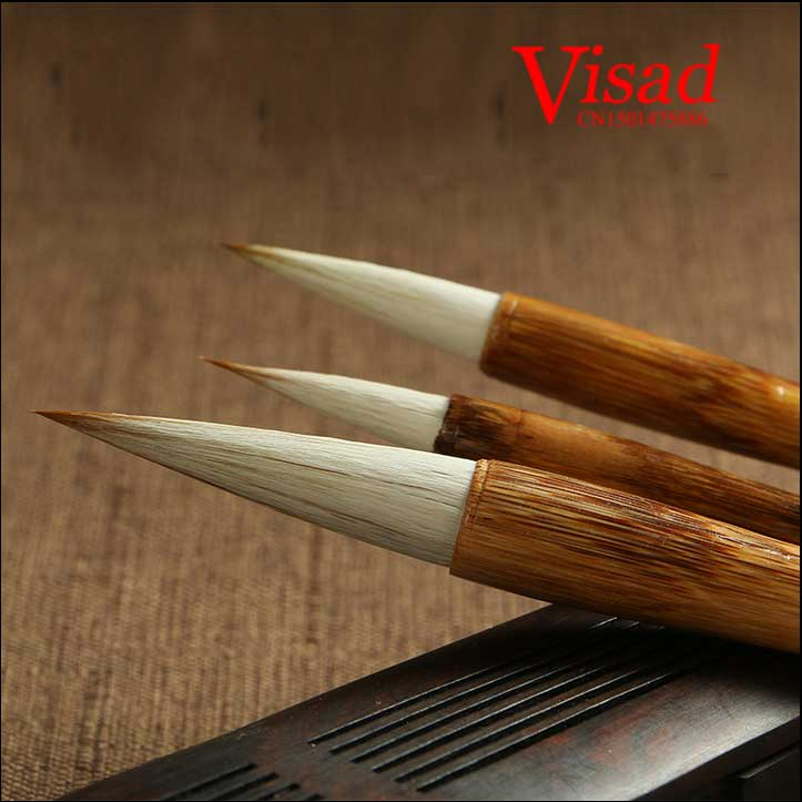 high qualtity Woolen & Purple Rabbit Hair Writing Brush Chinese brushes Calligraphy brushes pen artist brushes painting supplies 5000 chinese characters word pen copybook hard pen calligraphy copybook learn writing supplies for china lovers 2017