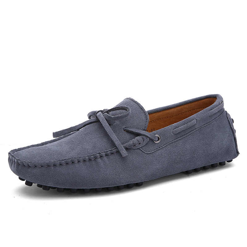 Big Size Cow Suede Leather Men Flats 2018 New Men Casual Shoes High Quality Men Loafers Moccasin Driving Shoes