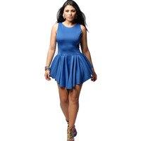 Hot New Summer Women Bandage Dress Irregular Hem Sleeveless Mini Dress Sexy Dress