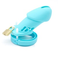 silicone chastity cage soft with 5penis rings male chastity cage small chaste bird cock cages lock chastity device belt
