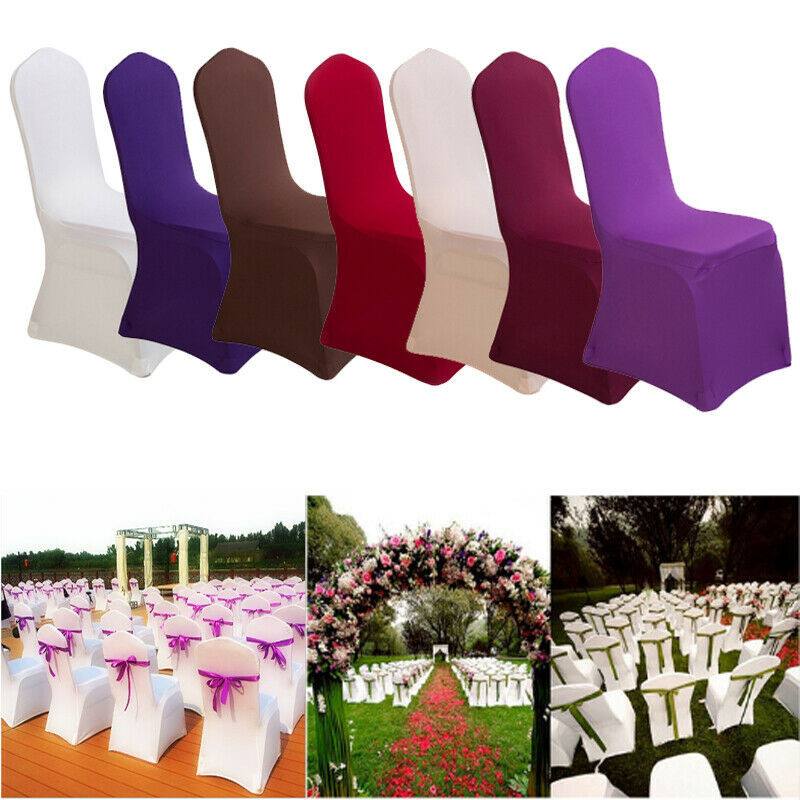 Brand New 1pc Solid Spandex Chair Cover Multicolor Wedding Party Banquet Dining Room Chair Covers Decoration
